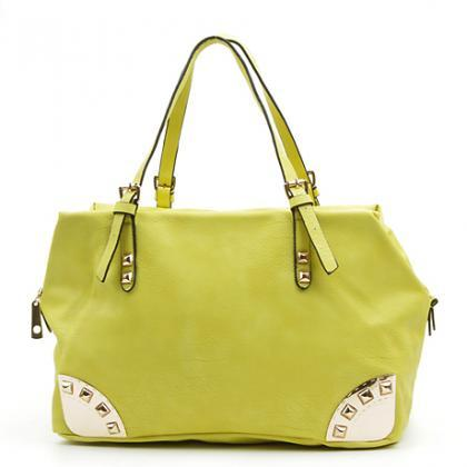 Lime Green Handbag. Melon Green Pur..