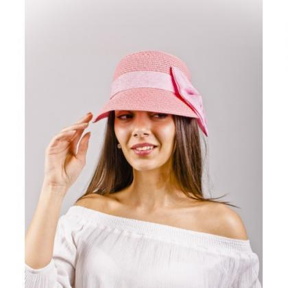 Summer Pink Straw Woman Hat