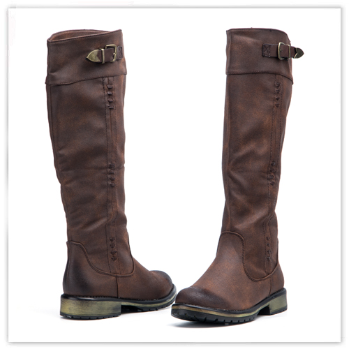 Brown Boots. Flat Boots. Winter Boots. Fashion Boots.