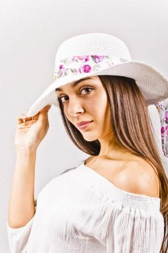 Summer White Straw Woman Hat