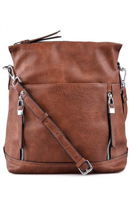 Leather Tote. Brown Handbag. Leather Brown Hobo.