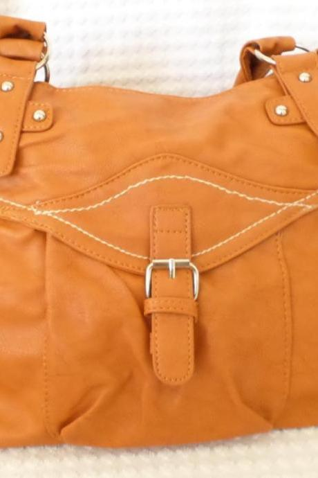 Tan Leather Tote. Leather Satchel. Brown Handbag. Tan Hobo. Brown Purse. Caramel Brown Leather Handbag.
