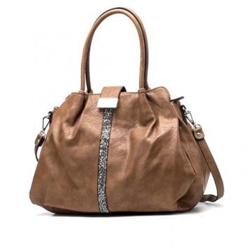 Taupe Leather Satchel. Taupe Handbag. Taupe Purse. Beige Leather Handbag.